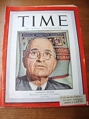Time Magazine Nov 6, 1944 Candidate Harry Truman