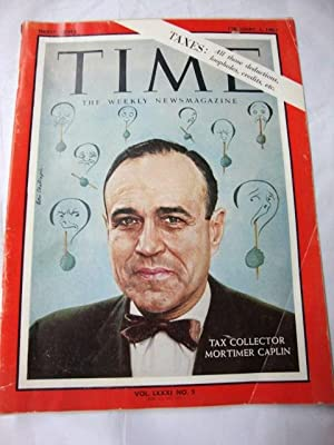 Time Magazine Feb 1, 1963 Mortimer Caplin
