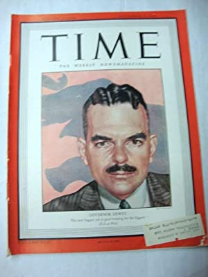 Time Magazine November 1, 1943 GOVERNOR DEWEY
