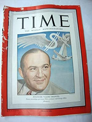 Time Magazine Oct 7, 1946 Victor Emanuel