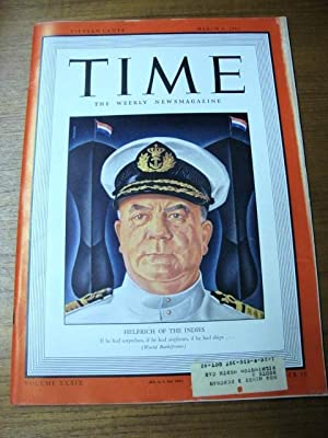 Time Magazine March 9, 1942 Helfirch of the Indies