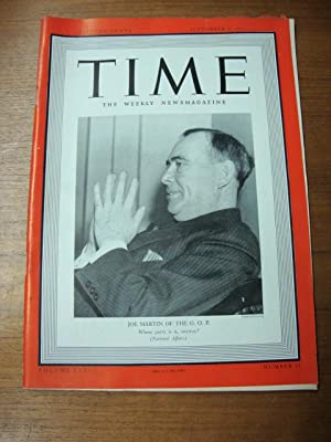 Time September 9, 1940 Joe Martin of GOP