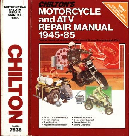 chilton s motorcycle and atv repair manual 1945 85 part no 7635 rh abebooks com Chilton's Manual Slave chilton motorcycle manual online free