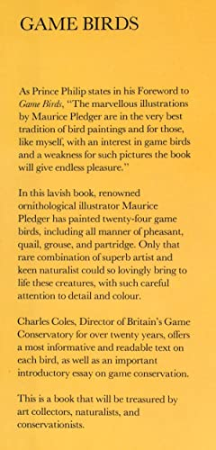 Game Birds: Coles, Charles ( Illustrated by Maurice Pledger )