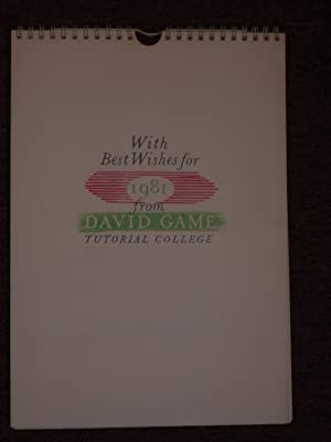 With Best Wishes for 1981 from David Game Tutorial College. [12 lithographs in colour by Glynn Bo...