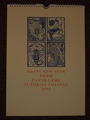 Happy New Year from David Game Tutorial College 1985. [Zodiacal cuts by Hannah Firmin.]