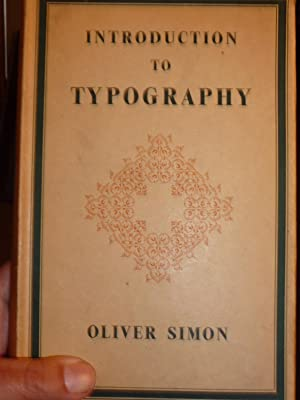 Introduction to Typography.: Simon (Oliver).