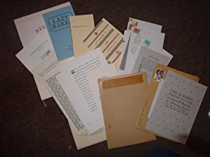 A collection of prospectuses, minor pieces, Christmas cards and good Als from Claire Bolton (many...