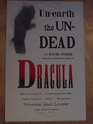 Un-earth the Un-dead with Dacre Stoker descendant of Bram, the author of Dracula. Tuesday, Octobe...