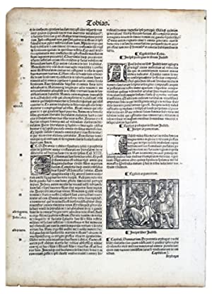 PAGES FROM THE PAST: ORIGINAL LEAVES FROM RARE BOOKS AND MANUSCRIPTS.: The Bible. Various leaves, ...