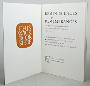 REMINISCENCES & REMEMBRANCES OF HERMAN AND AVEVE: Cohen, Herman &
