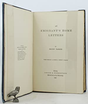 AN EMIGRANT'S HOME LETTERS