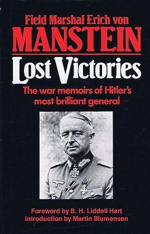 LOST VICTORIES.: Von Manstein (Field-Marshal