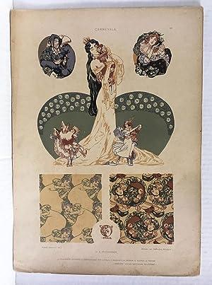 CARNEVALE. [raffigurazioni carnevalesche con figure femminili affascinanti: PUCHINGER Erwin (Wien