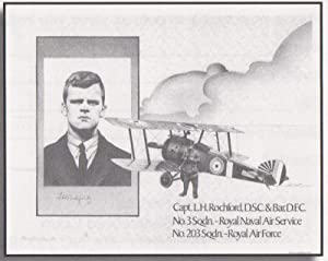 Framed print reproduced from the pen and ink drawing of Leonard H. Rochford, Capt. No. 3 Squadron, ...