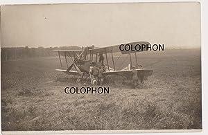 Original German contact print photograph of capturd BE2c.