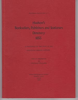 Hodson's Booksellers, Publishers and stationers Directory 1855
