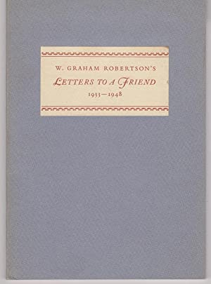 Letters to Frances White Emerson from W. Graham Robertson