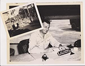 Three autograph letters, signed, one dated Dec 10, 1945, along with three photographs, all signed