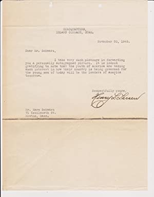 Typed Letter, signed, with photograph inscribed and signed