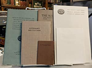 [Small lot of items from the Snail's Pace Press]. The Sultan & the Dervish: A Persian Tale ; Seco...