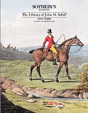 The Library of John M. Schiff