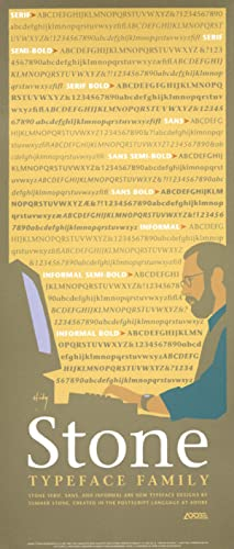 Stone Typeface Family. [Poster].: HIDY, Lance.