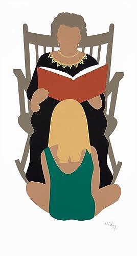 Grandmother Reading. [Silkscreen print].: HIDY, Lance.