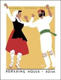 Boarding House Oinkari Basque Dancers. [Poster].: HIDY, Lance.