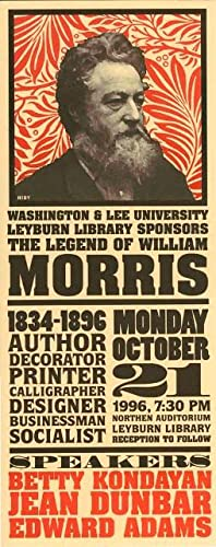 William Morris. [Poster].: HIDY, Lance.