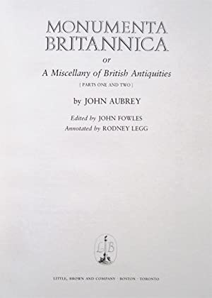 Monumenta Britannica, or, A Miscellany of British Antiquities [Parts One and Two]