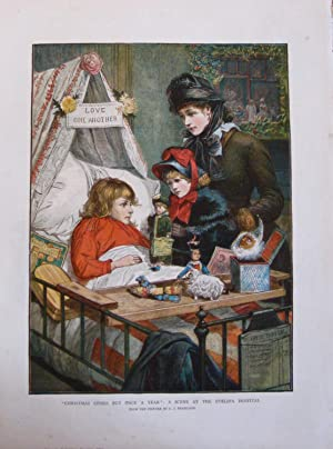 "An 1882 original large Chromolithographic Print of ""Christmas Comes But Once A Year"": a ..."