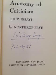 Anatomy Of Criticism Signed By Northrop Frye Princeton University