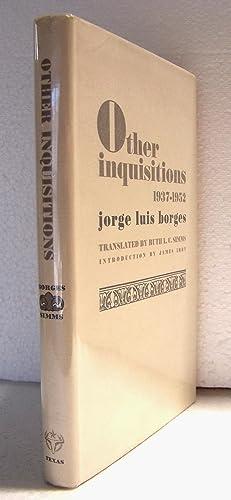 Other Inquisitions: 1937-1952.: Borges, Jorge Luis.