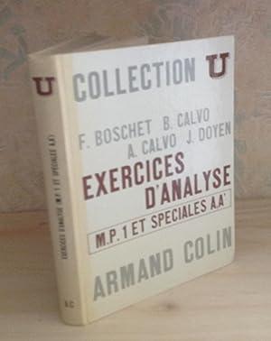 Exercices d'Analyse MP1-MP2 et spéciales A,A', Collection: BOSCHET (F.) -