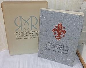Journal Florentin de R.M. Rilke, traduction de: RILKE, Rainer Maria