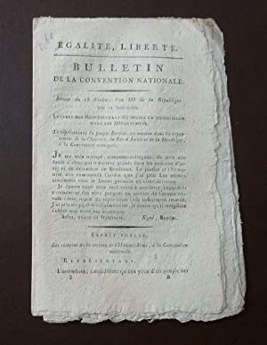 Bulletin de la Convention Nationale, séance du 23 Nivôse, l'an III de la République une et indivi...