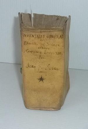 Inventaire général de l'histoire de France commençant: SERRE, Jean de