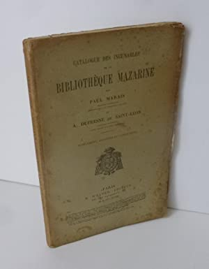Catalogue des incunables par Paul Marais, supplément, additions et corrections. Paris. H. Welter....
