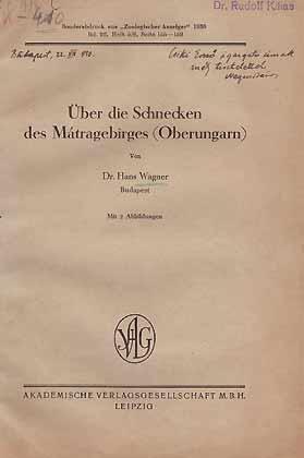 Über die Schnecken des Mátragebirges (Oberungarn): Wagner, H.