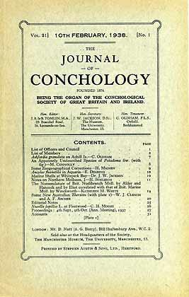 Journal of Conchology, Vol. 21 (1)