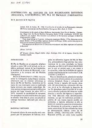 Contribución al Estudio de los Pulmonados Desnudos: Alonso, M. R.