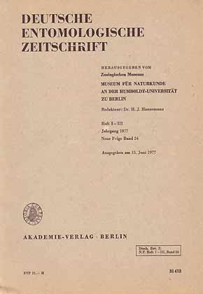 Deutsche Entomologische Zeitschrift N.F. 24 (1-3)