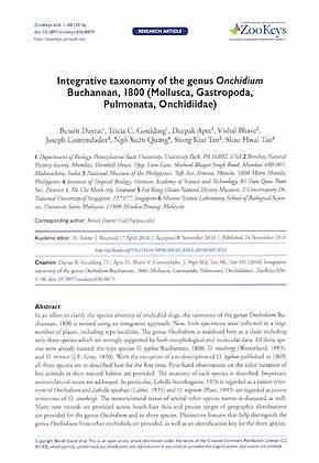 Integrative taxonomy of the genus Onchidium Buchannan,: Dayrat, B., Goulding,