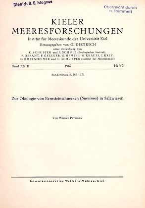 Zur Ökologie von Bernsteinschnecken (Succinea) in Salzwiesen: Petersen, W.