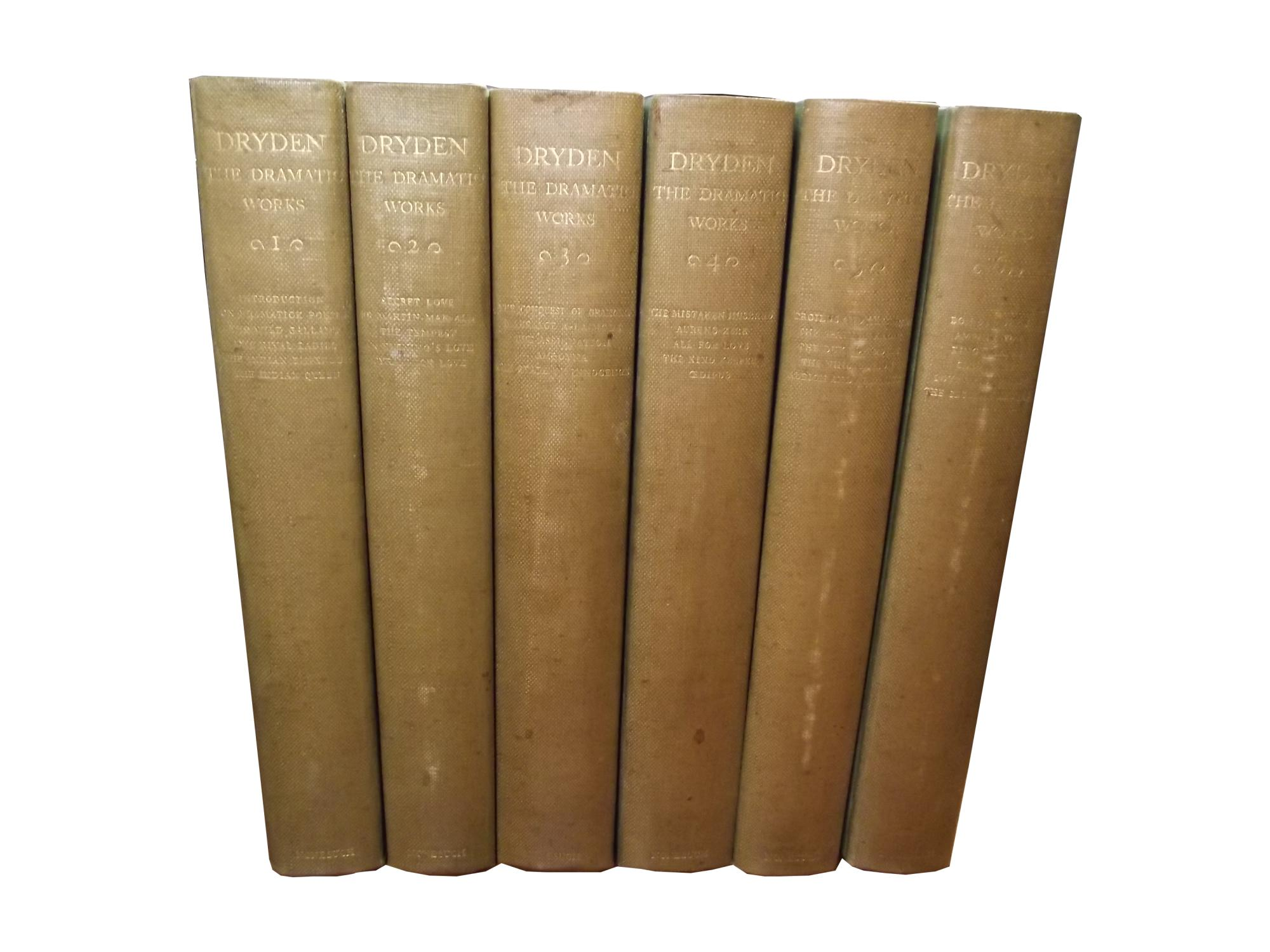 Dryden - The Dramatic Works Summers, Montague (Ed)