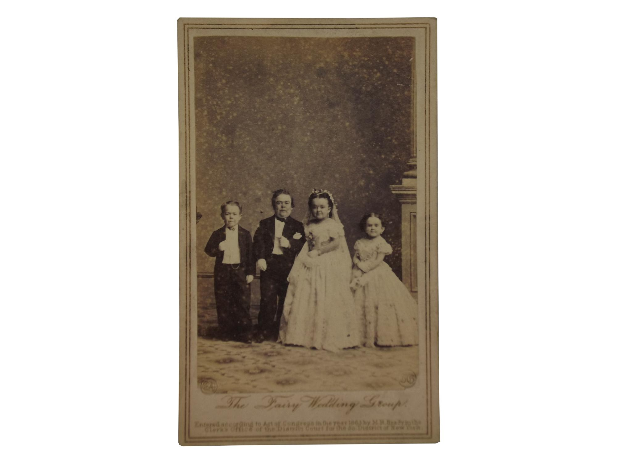 Carte De Visite Of The Fairy Wedding Group