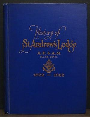 History of St. Andrew's Lodge A.F. & A.M. No. 16 G.R.C.: SMITH, REV BRO HENRY T.