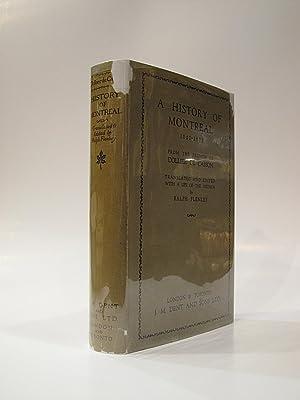A History of Montreal 1640-1672: DE CASSON, DOLLIER; FLENLEY, RALPH