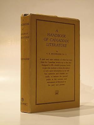 A Handbook of Canadian Literature: RHODENIZER, V. B.